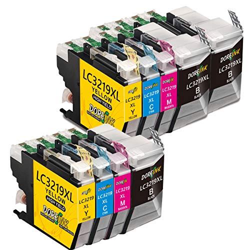 DOREINK LC3219XL Kompatible für LC3219XL LC3217 Druckerpatronen für Brother MFC-J5330DW MFC-J5335DW MFC-J5730DW MFC-J5930DW MFC-J6530DW MFC-J6935DW MFC-J6930DW 3 Schwarz/2 Cyan/2 Magenta/2 Gelb