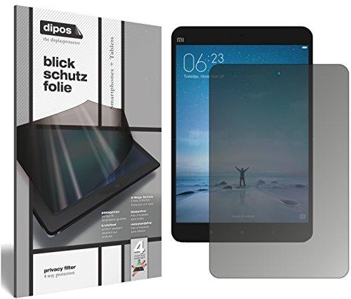 dipos I Blickschutzfolie matt kompatibel mit Xiaomi Mi Pad 3 Sichtschutz-Folie Bildschirm-Schutzfolie Privacy-Filter