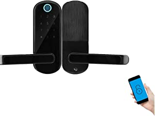 Smart Lock Elettronico, Blocco Impronte Digitali per Interni Touch Screen Blocco Password Blocco Telefono Bluetooth App Co...