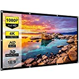 Spline 120 inch Projector Screen 4K HD 16:9 Portable Video Projector Screen Foldable