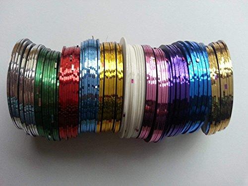 Nail Art Striping Tape Line Decoration Pack De 10 Rouleaux De Easy-Go Mixte Couleurs Rouleaux Bande Striping