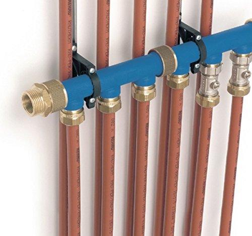 Elément bleu 3 circuits avec écrou d'assemblage Rehau pour collecteur hydrodistribution 268518