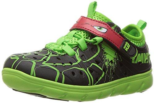 Stride Rite Made 2 Play Phibian Sneaker Sandal Water Shoe (Toddler/Little Kid/Big Kid), Grey,5 M US Toddler