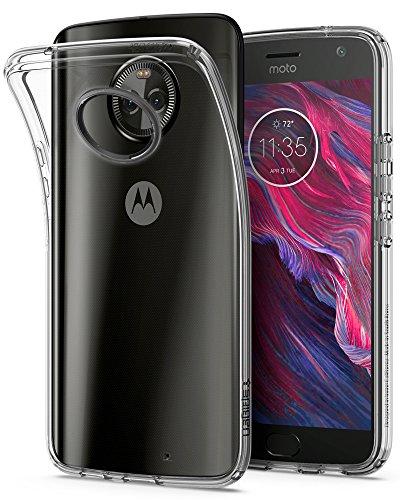 Spigen M11CS22711 Liquid Crystal Moto X4 Hülle Soft Flex Silikon Transparent Schlank TPU Durchsichtige Schutzhülle Case - Crystal Clear