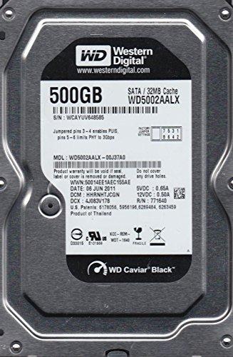 WD5002AALX-00J37A0, DCM HHRNHTJCGN, Western Digital 500GB SATA 3.5 Festplatte