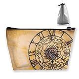 Pizeok Antiguo Reloj Vintage Filtro Vintage Trapecio Bolsa de cosméticos Bolsa de Almacenamiento Cremallera Accesorio Multifuncional Monedero Viaje Compras al Aire Libre Monedero Monedero