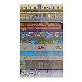 TMNT (Teenage Mutant) Arcade – Levels – Retro – El póster de decoración de interior más impresionante y elegante disponible actualmente