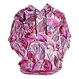 Moda impresión 3D rosa hojas patrón acuarela unisex suéter fresco sudaderas con bolsillo canguro para hombres y mujeres