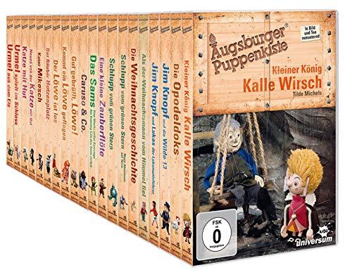 Augsburger Puppenkiste: Mega Collection - Jim Knopf, Kater Mikesch, Urmel, Kalle Wirsch, Sams uvm. [20-DVD]