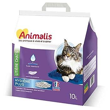 Animalis - Litière Hygiène Plus Minérale pour Chat - 10L