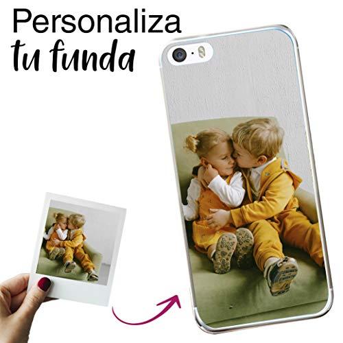 Mookase Funda Carcasa Personalizada para tu móvil iPhone 5C con Foto, Imagen o Texto. Gel Flexible, Bordes Transparentes