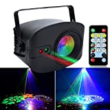 AKEPO 13W Party Lights Stage Laser Light, LED Laser Effect and 52 LED Patterns (48+4 large) Sound Activated Stage Light Strobe Light for DJ Laser Light Show/Disco/Party/Festival Gift