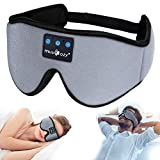 MUSICOZY Sleep Headphones 3D Bluetooth 5.0 Headband Sleeping Headphones, Wireless Music Sleep Eye Mask for Side Sleepers, Air Travel, Built-in Ultra Thin Speakers Mic Noise Cancelling