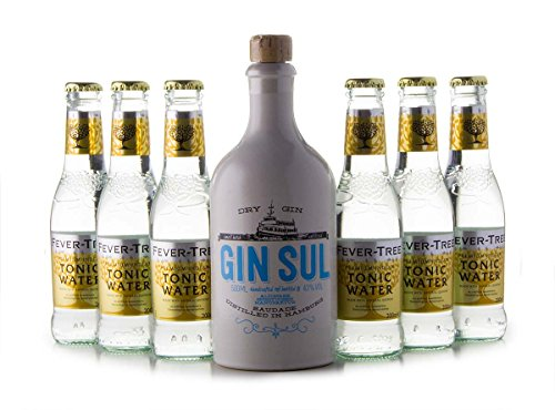 GIN SUL(1 x 0.5L) + 6 Flaschen Fever-Tree Tonic Water (6 x 0.2L)
