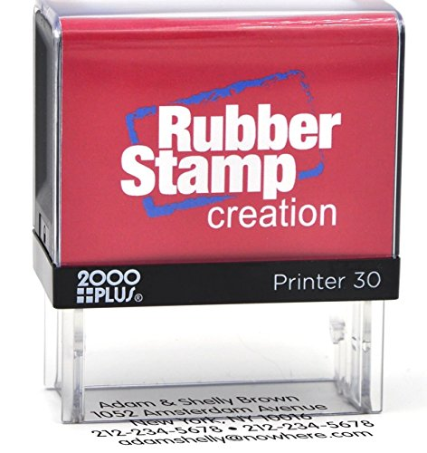 Bank Deposit Stamp - Five Line Self Inking Stamp for Check Endorsement - 3/4' x 1-7/8'