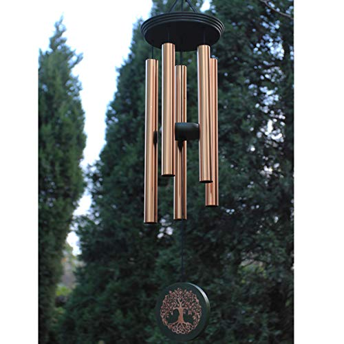 Wind Chimes Outdoor Large Deep Tone,36 Inch Windchimes Outdoor in Memory of Loved One Engraved Tree of Life,Memorial Wind Chimes Outdoor Sympathy Gift for Father Mother Family,Garden Decor Wind Chime