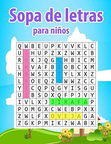 Sopa de letras para niños: 6-8 años- Una actividad para estimular la memoria visual y la atencion