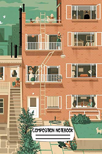 Travel Posters Hitchcock's Rear Window Greenwitch Village New York Notebook: (110 Pages, Lined, 6 x 9)