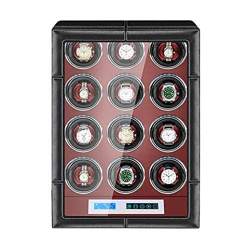 Caja Enrolladora Reloj Automática Pantalla Táctil LCD Almohadas Reloj Ajustables Exterior Cuero...