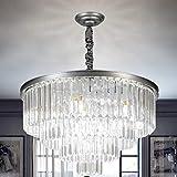 Panghuhu88 Crystal Modern Style Chandeliers 4-Tier Chandelier Lighting European Ceiling Pendant Lights for Dining Room Living Room Bedroom Kitchen Hotle (23.6)