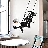 Pegatinas de pared de personalidad simple arte callejero, arte de pared, diseño de interiores de la ciudad de graffiti calcomanías de decoración del hogar otros colores 42x60cm