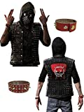WD 2 Watch Dogs Dedsec Wrench Jacket Shawn Baichoo Vest Real Leather (L, Black)