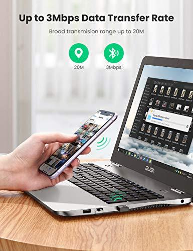 UGREEN USB Bluetooth Adapter für PC Bluetooth Dongle Nano Bluetooth Stick Bluetooth 4.0 Adapter Kompatibel mit PC und Kopfhörer, Lautsprecher, Tastatur, Maus, Game Controller, Handy usw.