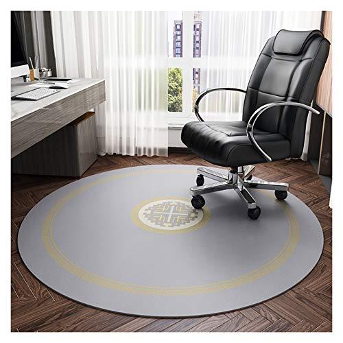 YFYF Rundes Stuhlkissen, Durchmesser 120cm rutschfeste Bodenschutzmatte Stuhlmatten Reißfestigkeit Ideal Für Den Heim- Und Bürogebrauch (Color : Grey)