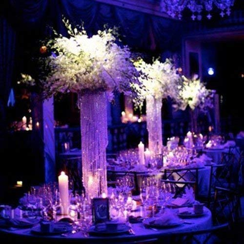 "Forbes Favors ™ 20"" Glamorous Spiral Chandelier Centerpiece Wedding & Special Occasion Centerpiece with Battery LED Lights Wedding, Birthday, Anniversary ( 6"", 7"" or 8"" Diameter)"