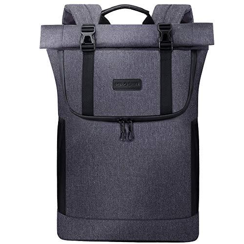 KROSER Laptop Rucksack 15,6'' Roll Top Stylisher Herren & Damen Lässiger Wasserdichter...