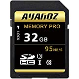 32GB Memory Card, Auanoz Ultra Class 10 UHS-I High Speed Memory Card Suitable for cameras and camcordersU3 up to 95 MB/s, 10 Class. (Black/Gold-32gb)