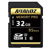 Carte mémoire MicroSD 32 Go Auanoz Micro SDHC Classe 10 UHS-I Carte mémoire haute vitesse pour téléphone, tablette et PC - avec adaptateur (SD Card-32gb)