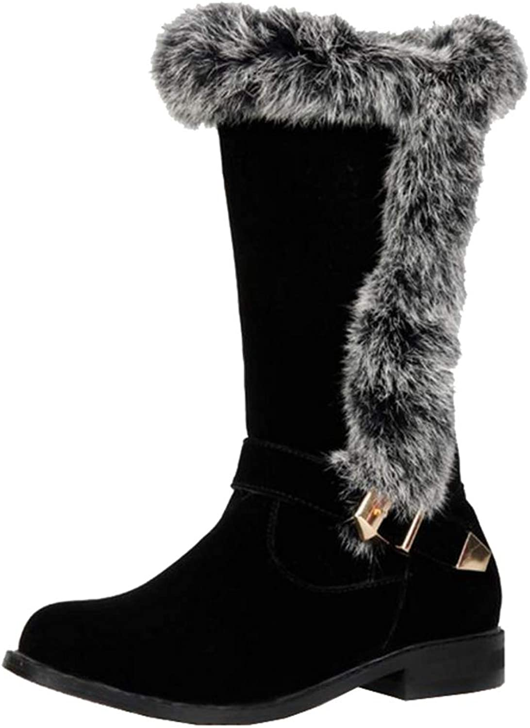 Smilice Women Mid-Calf Winter Boots