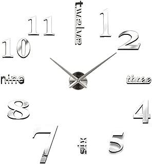 Morza Orologio da Parete notazione Musicale Romana Cifre Fai da Te Acrilico autoadesivi della Parete Orologi Home Decor Orologio