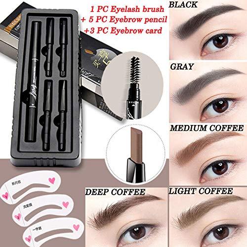 Pinceau à Cils Stylo à Sourcils Make Up Sourcils Imperméable Stylo Liner Eye Fourche Stylo de Tatouage Croquis Sourcil Cosmétique Maquillage de Beauté (Noir)