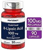 R Lipoic Acid 100mg Stabilized   90 Capsules   Plus Biotin Optimizer  