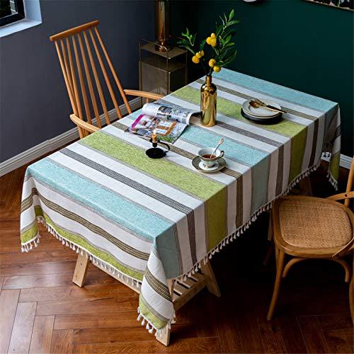 Mantel Rectangular A Rayas con Flecos para Restaurante En Casa, Mantel Redondo De Poliéster para Hotel, Mantel Cuadrado 110x110cm