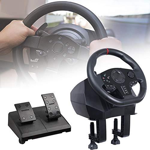 Game Racing Wheel V900 Volant de jeu réglable avec pédales et retour de vibration pour Nintendo Switch PC / PS3 / 4 / Xbox One