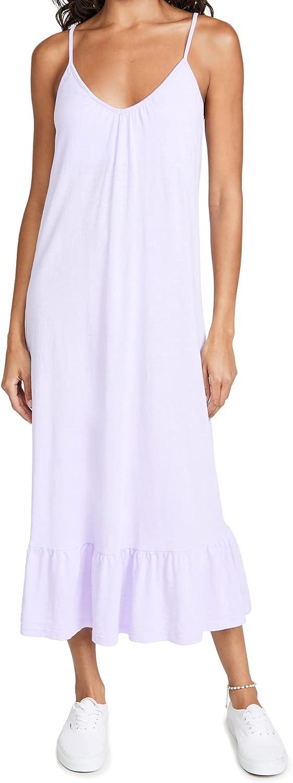 SUNDRY Women's V Neck Strap Maxi Dress