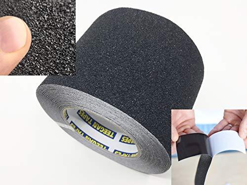 Anti Slip Tape | Outdoor Waterproof | Heavy Duty Anti Slip Traction Tape | Black 4 Inch x 30 Feet | by Teegan Tapes