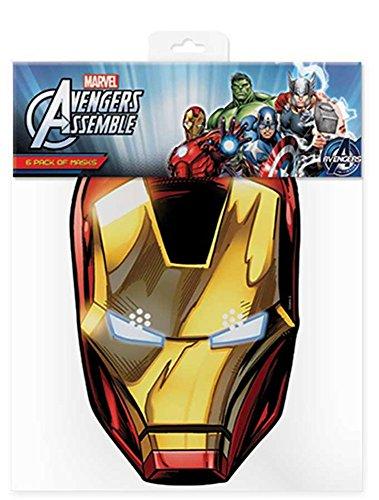 Iron Man Marvel-masker van karton (satijneffect, ooggaten en elastiek, afmeting 30 x 20 cm)