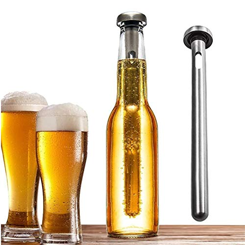 Enfriador De Cerveza, Acero Inoxidable Cerveza Stick, Cerveza Portátil De Refrigeración Stick, Vino De Hielo...