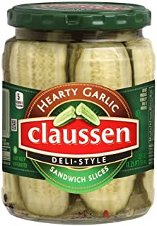 CLAUSSEN PICKLE SLICES DELI STYLE HEARTY GARLIC FLAVOR 20 OZ PACK OF 3