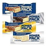 Multipower Power Pack Mix Box Protein Riegel, Eiweißriegel mit 27% Protein, klassischer Power Bar...