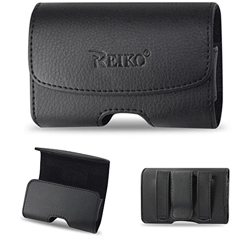 Magnetic Horizontal Leather Case with Belt Loops for Samsung GreatCall Jitterbug 5 flip phone.