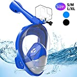 Avoalre Snorkel Mask Full Face Easybreathing System Snorkelling Mask Diving Mask 180° Panoramic
