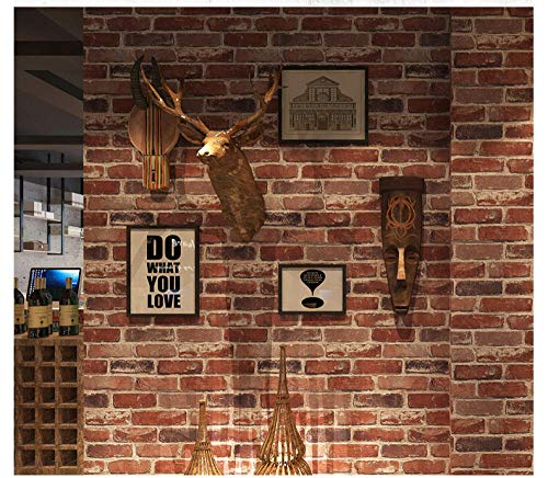 Retro braune rote Backstein Muster Tapete Backstein nostalgische Zement Backsteinmauer industriellen Stil Loft antiken Hintergrund Wand Persönlichkeit Möbel Stil