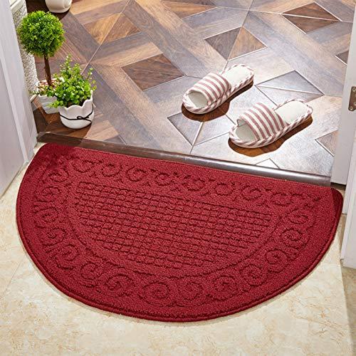 RNNTK Tappeti Tappeto Durable Mezzo Giro Zerbino Tappetino, Easy To Clean Antiscivolo Tappeti Tappeto Multicolore Felpudo Cocina-Carmesí 40x60cm(16x24inch)