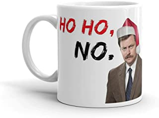 Tyna Ho Parks and Rec, Ron Swanson Xmas, meme greeting cards This Coffee Mug Has A Hefty But Classic Feel 11 Oz