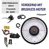 28 '48V 1000W kit de conversión de bicicleta eléctrica rueda delantera kit de conversión de bicicleta eléctrica kit de conversión de bicicleta eléctrica adecuado para convertir bicicletas eléctricas